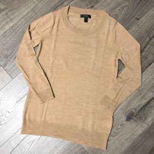 NWOT J. Crew Tippi 3/4 sleeve merino wool sweater